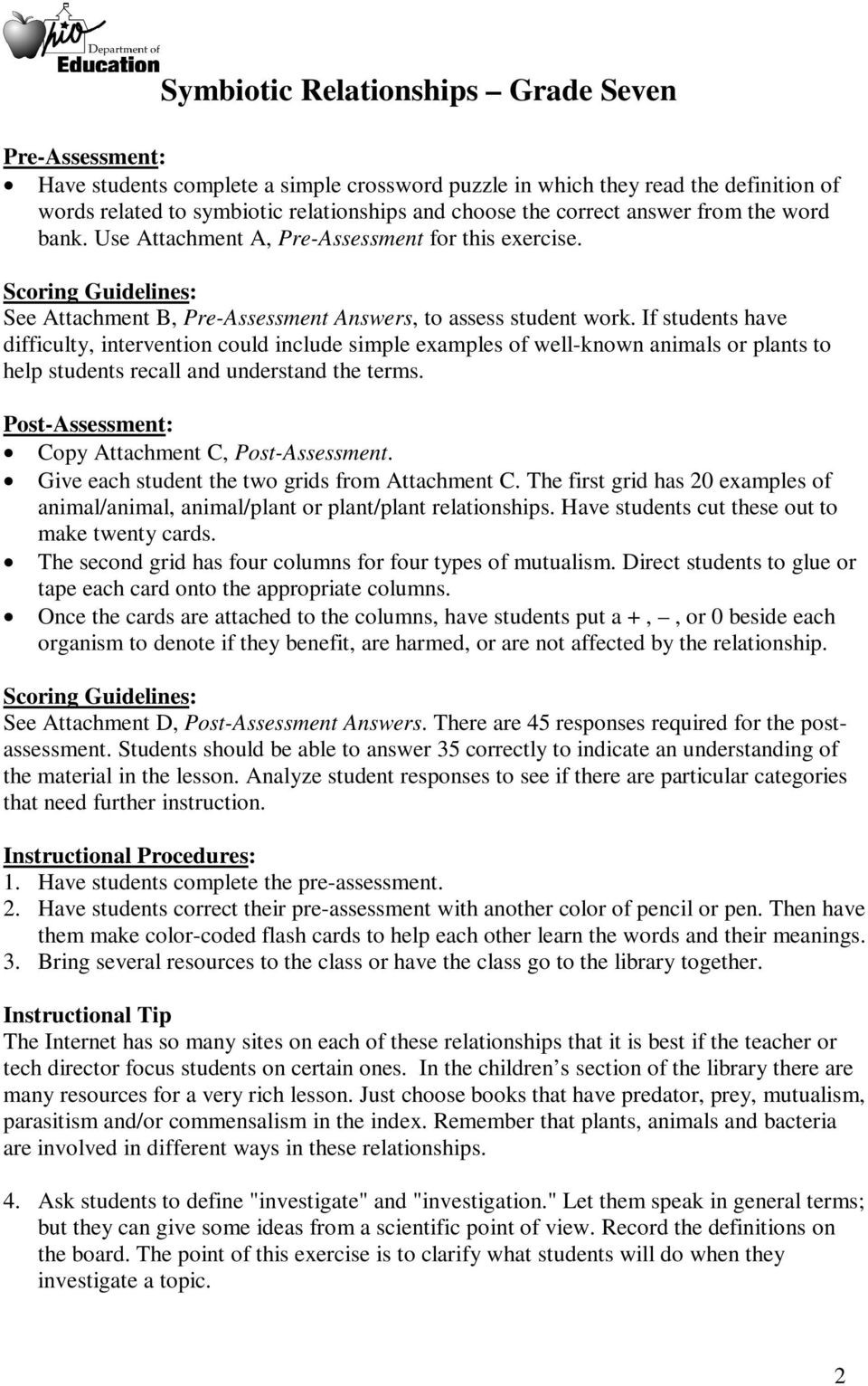Symbiotic Relationships Worksheet Answers Types Symbiosis Worksheet Answer Key Promotiontablecovers