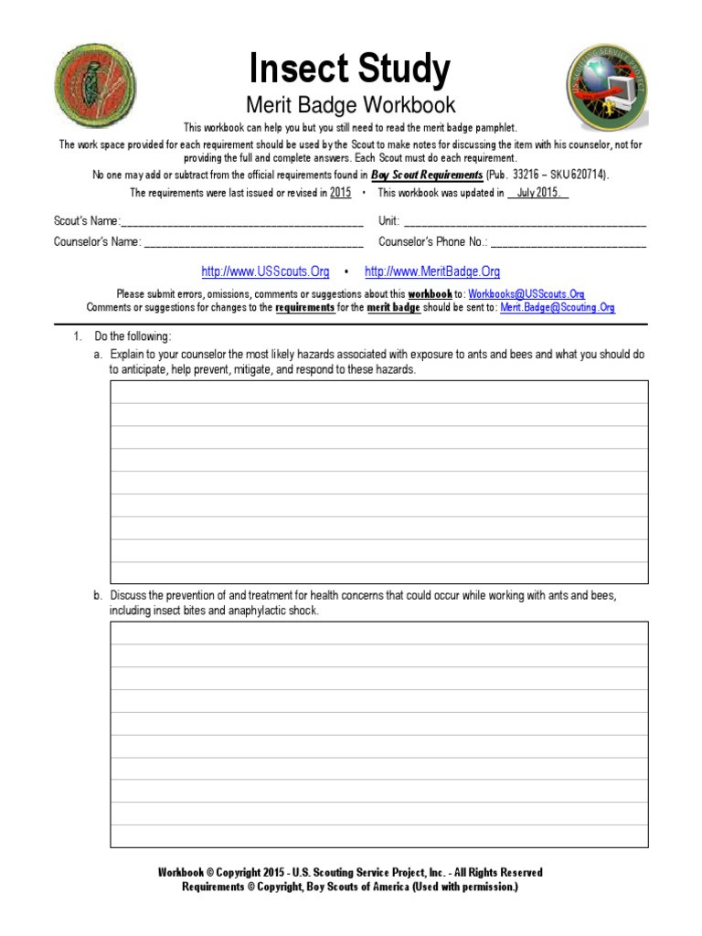 Symbiotic Relationships Worksheet Good Buddies Insect Study Boy Scouts America