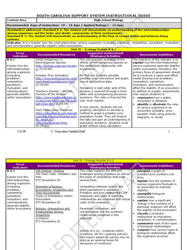 Symbiotic Relationships Worksheet Good Buddies Instructional Planning Guide Ix[1] Food Web