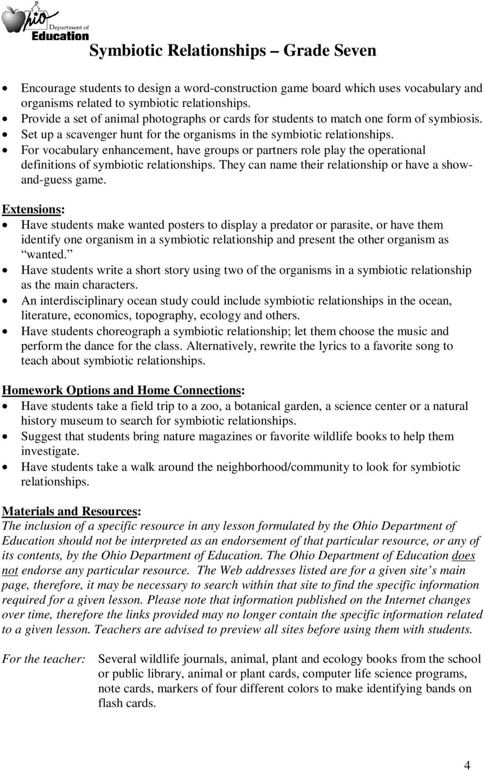 Symbiotic Relationships Worksheet Good Buddies Might Need some assist with Essay