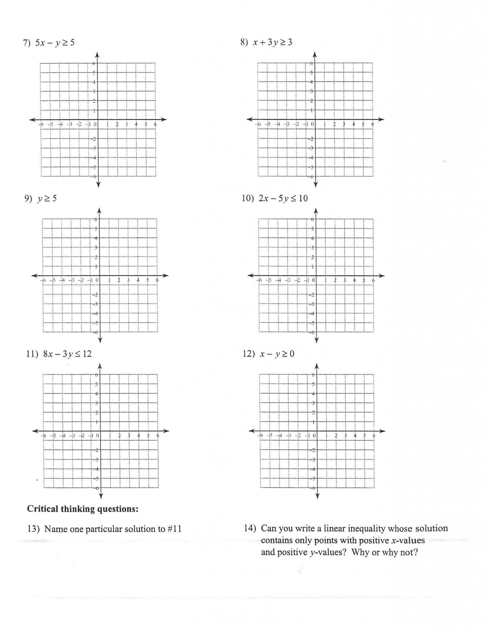 Systems Of Equations Review Worksheet Worksheets 49 Splendi Graphing Linear Equations Worksheet
