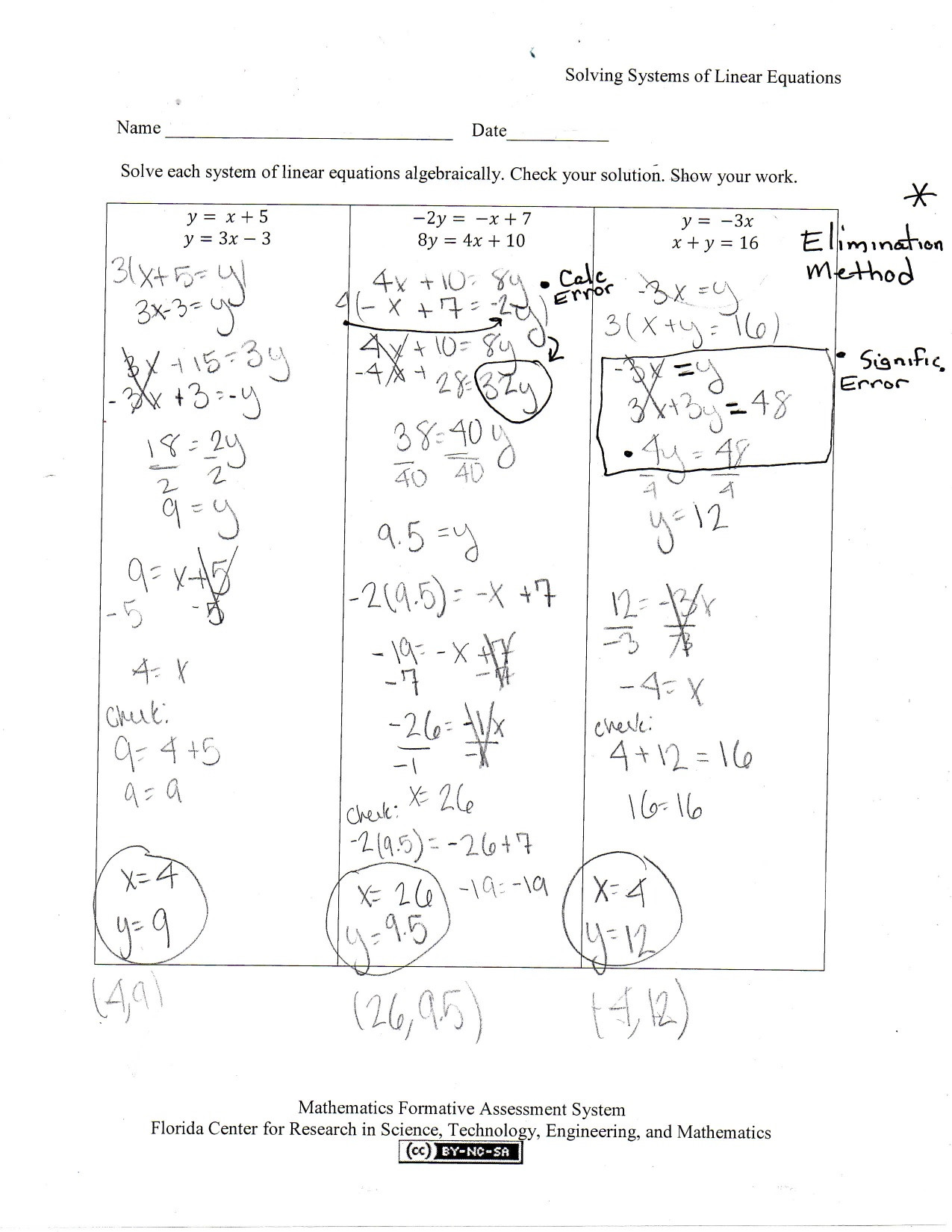 Systems Of Equations Worksheet Pdf 29 solving Systems Equations by Elimination Worksheet
