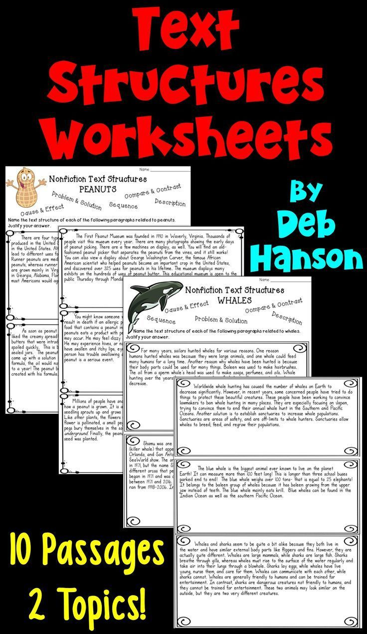 Text Structure Worksheet Pdf Informational Text Structures Two Worksheets