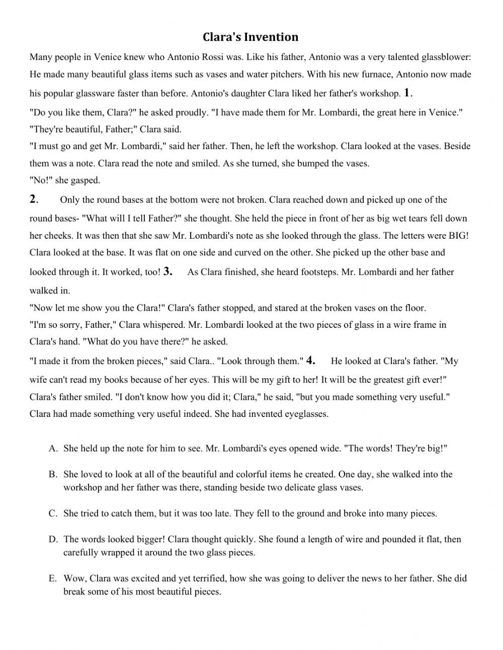 Text Structure Worksheet Pdf Oxford Discover 3 Unit 14 Gapped Text Interactive