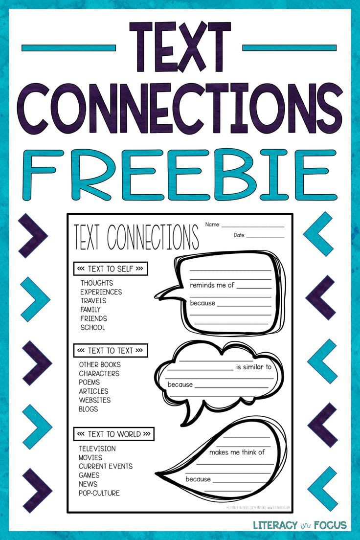 Text to Text Connections Worksheet Increase Text Connections with Sentence Frames