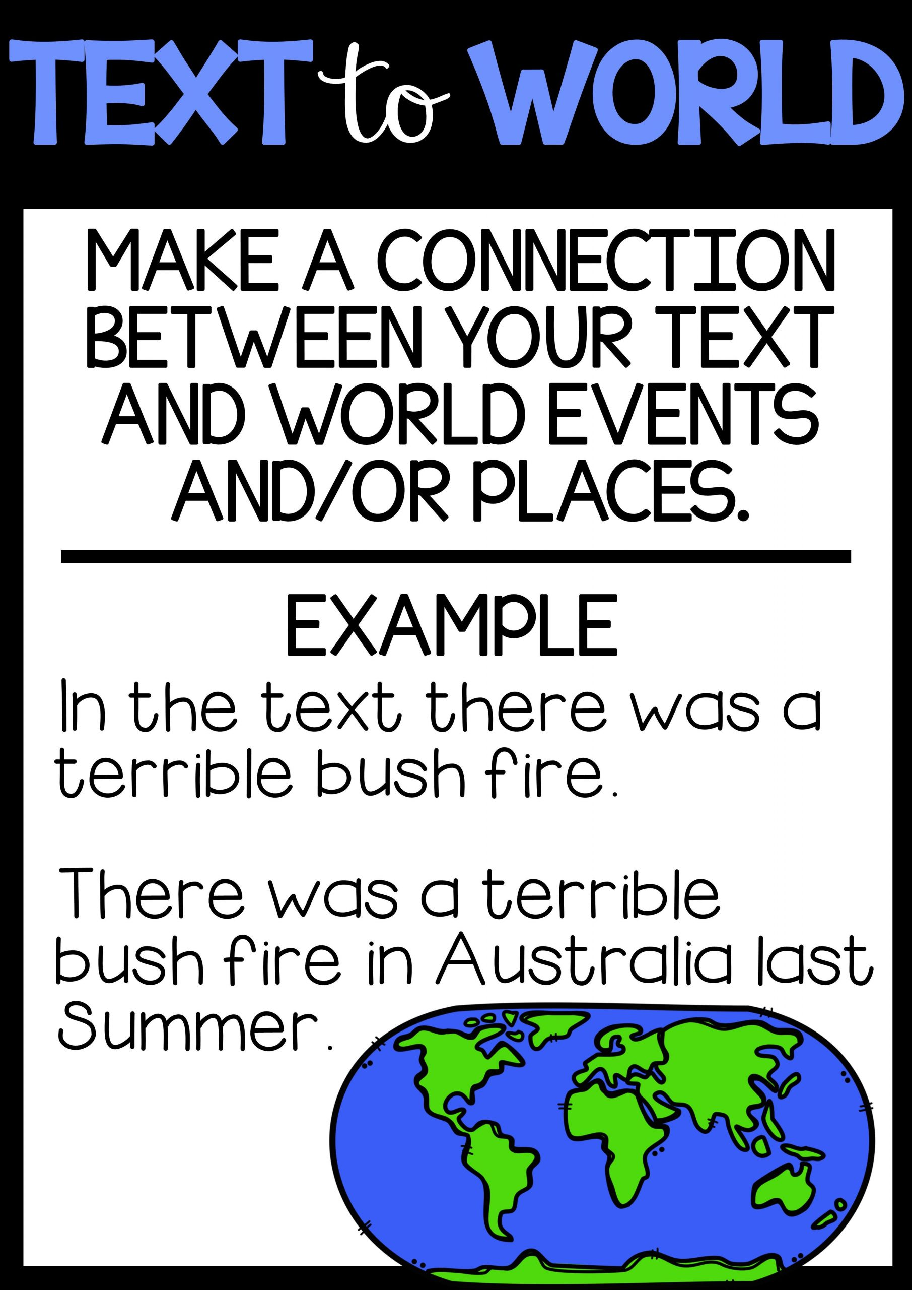 Text to Text Connections Worksheet Making Connections Text to Self Worksheet