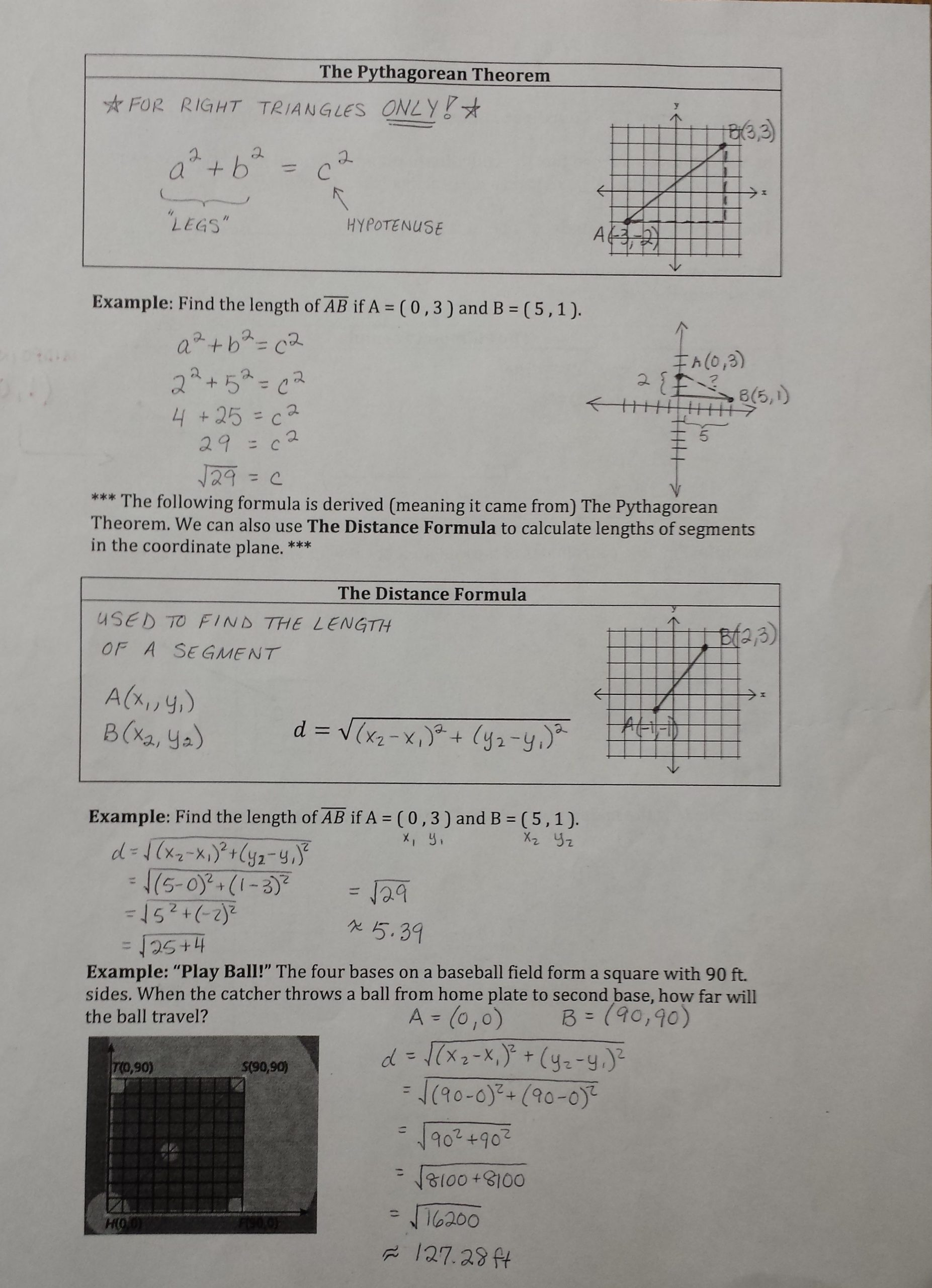 The Distance formula Worksheet Answers Distance formula Worksheet