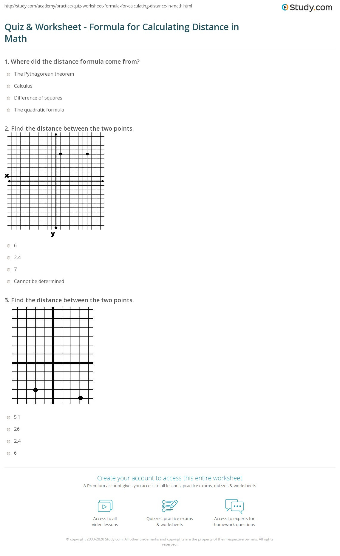 The Distance formula Worksheet Answers Distance Worksheets