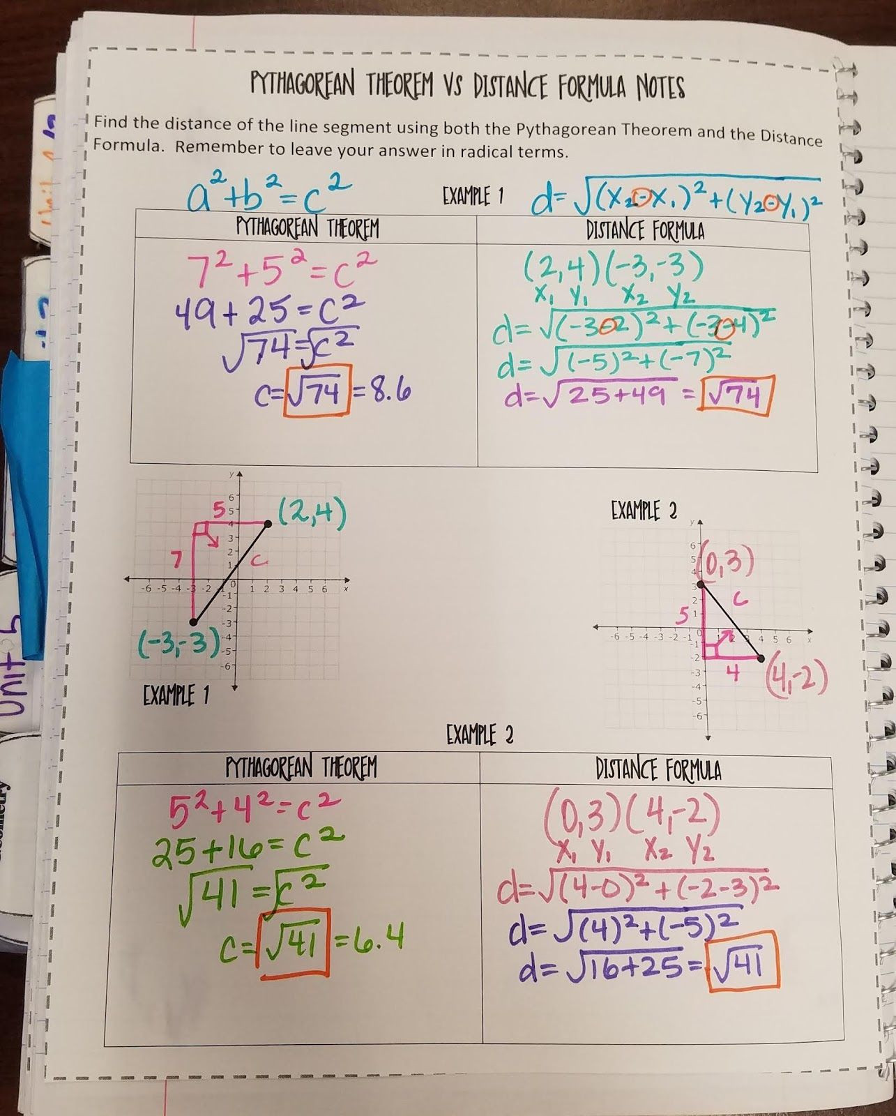 The Distance formula Worksheet Answers Murrio and Friends Going the Distance