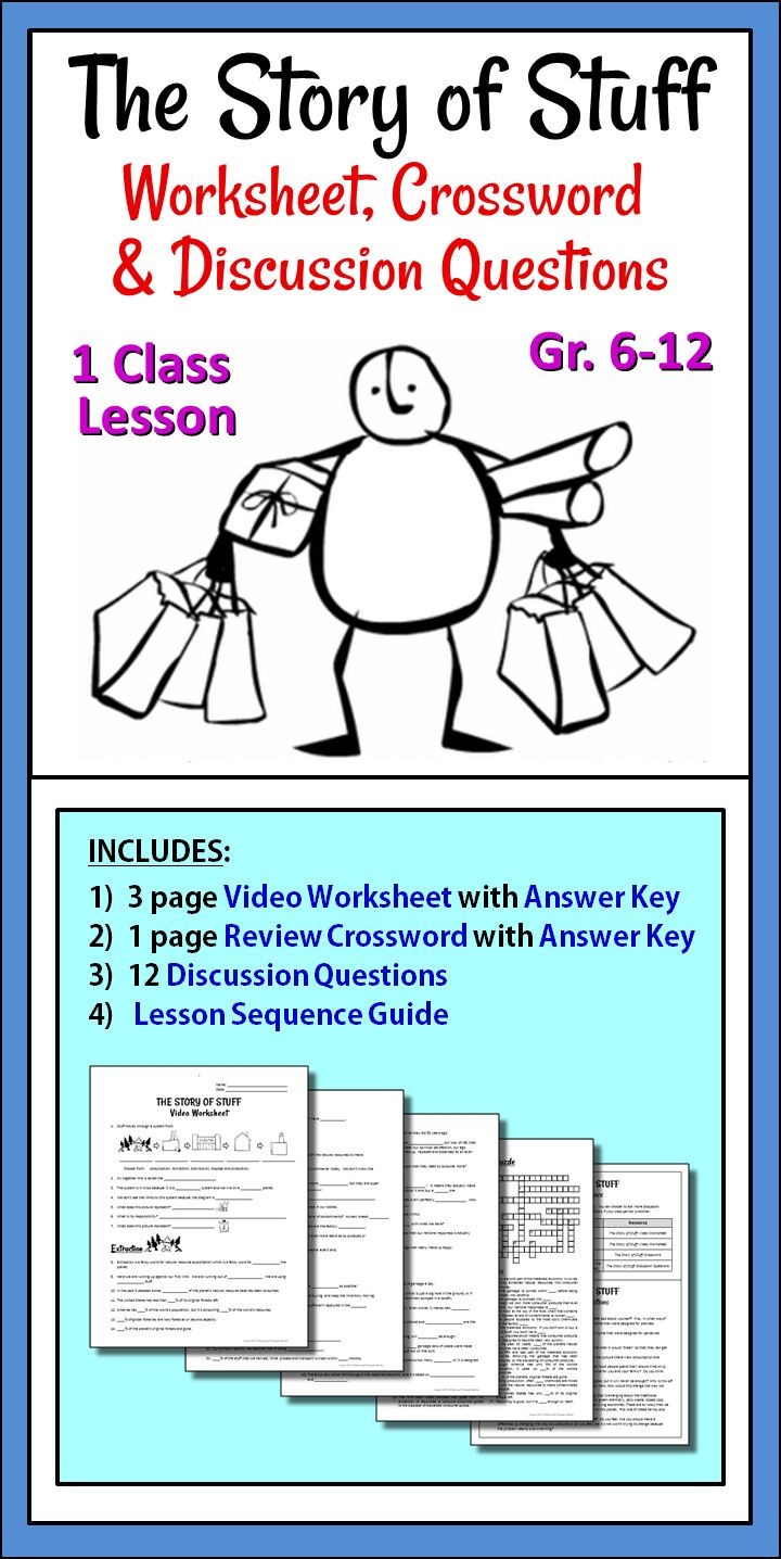 The Story Of Stuff Worksheet 29 the Story Stuff Worksheet Worksheet Resource Plans
