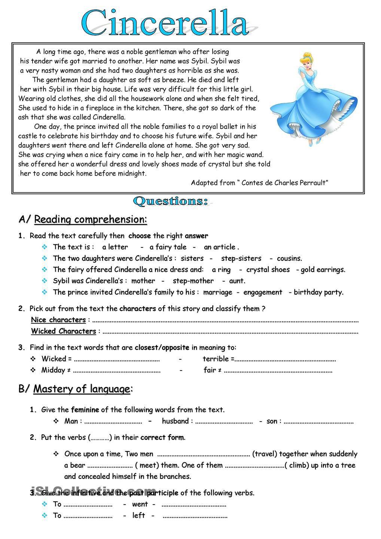 The Story Of Stuff Worksheet Cinderella