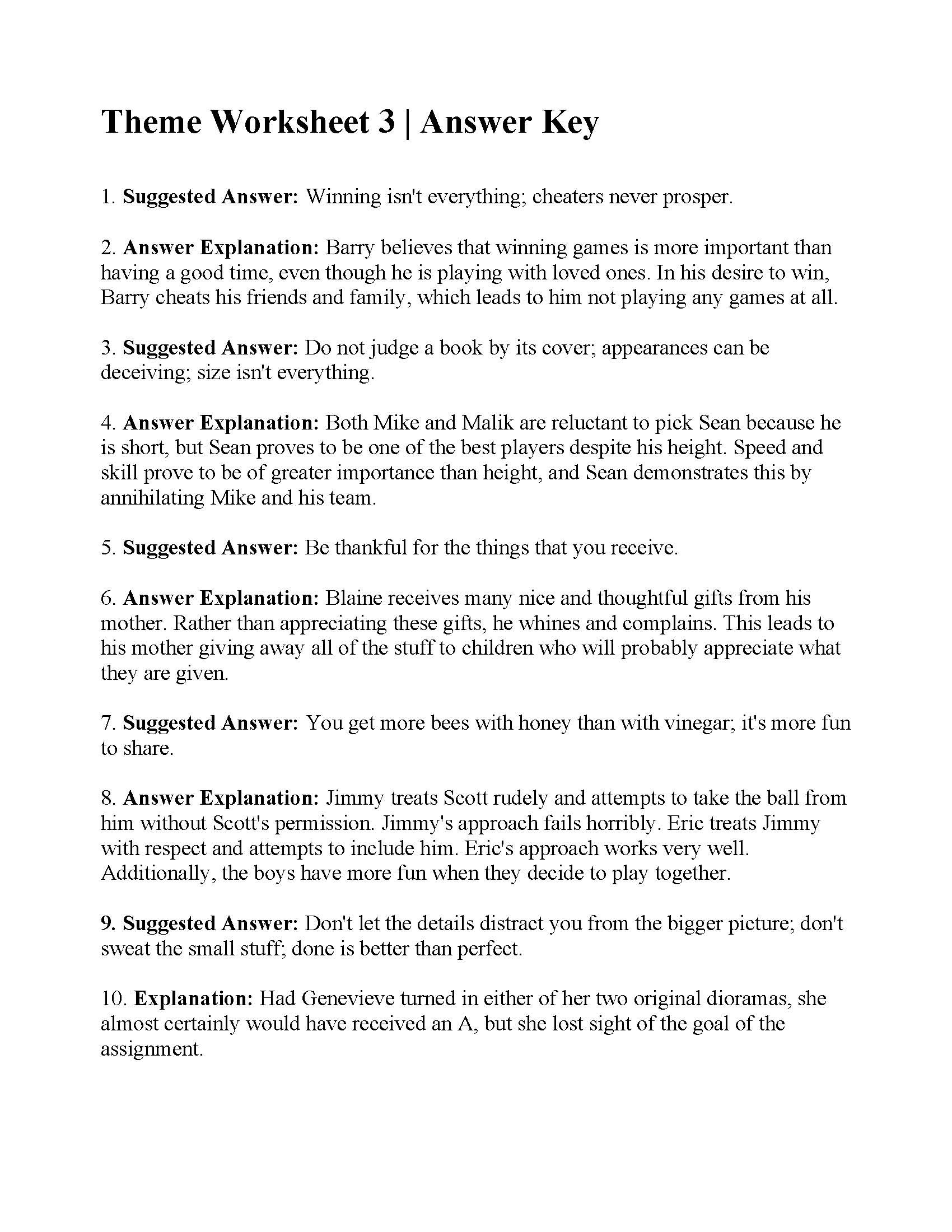 The Story Of Stuff Worksheet theme Worksheet Answers Ereading Worksheets Math Magnets