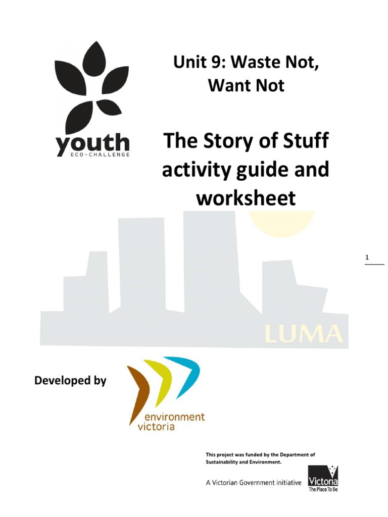 The Story Of Stuff Worksheet U9 Story Of Stuff Activity Guide & Worksheet Sp