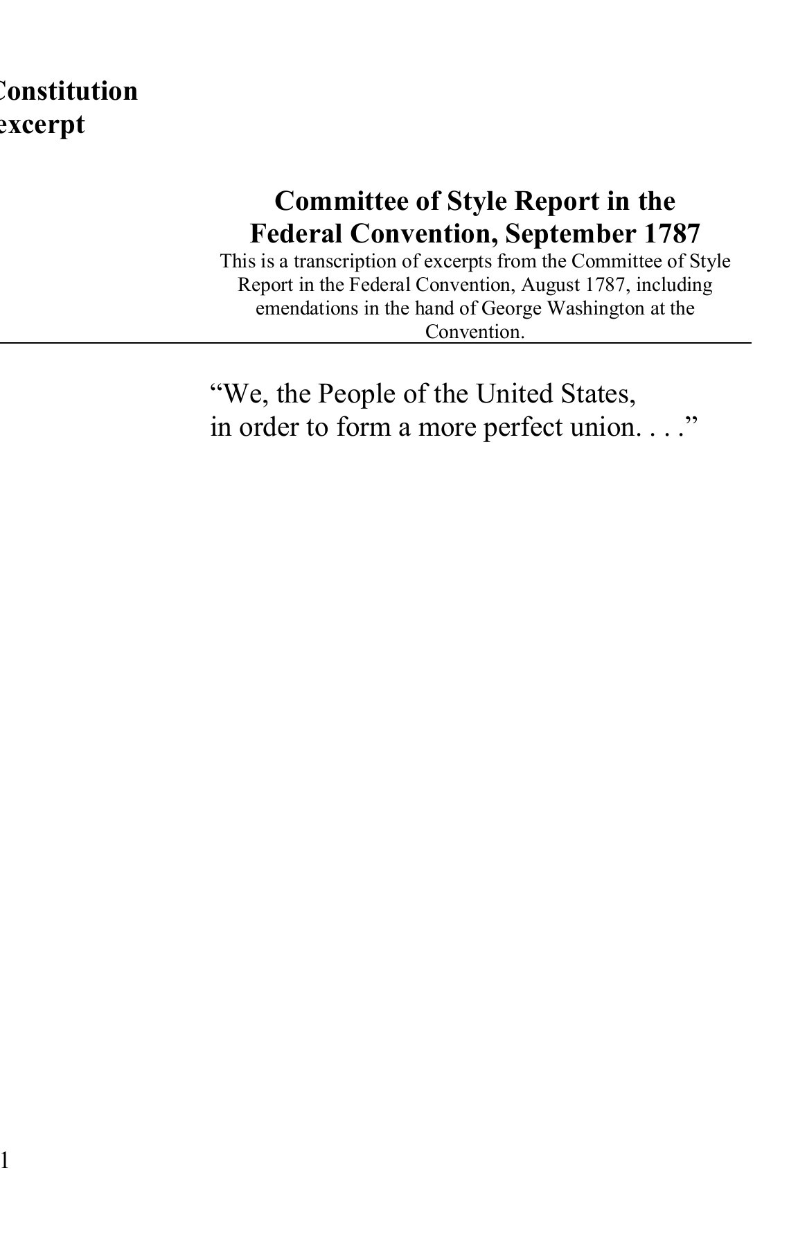 The Us Constitution Worksheet United States Constitution Worksheet Library Of Congress