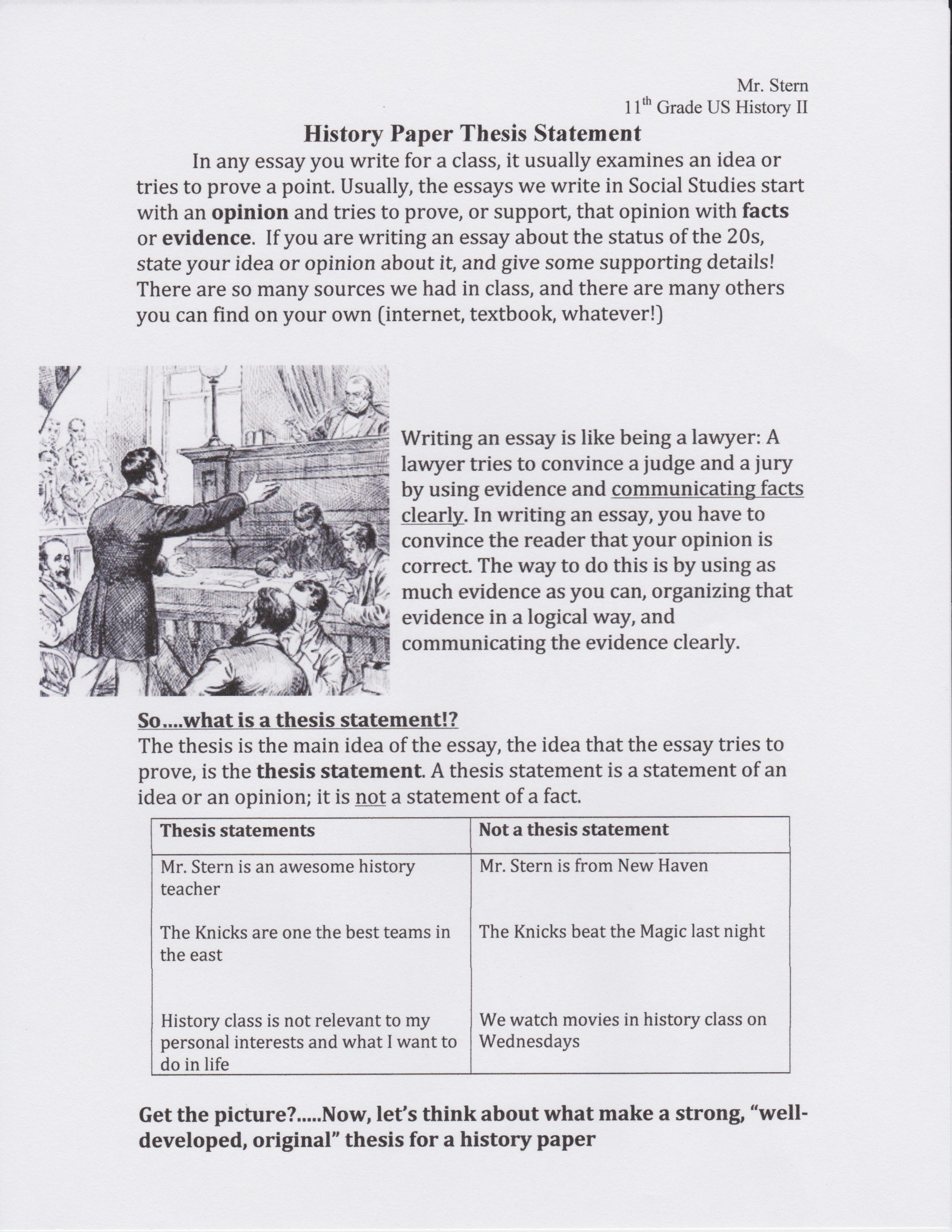 """Thesis Statement Practice Worksheet Scaffolding A """"strong"""" thesis Statement and Grammar for the"""