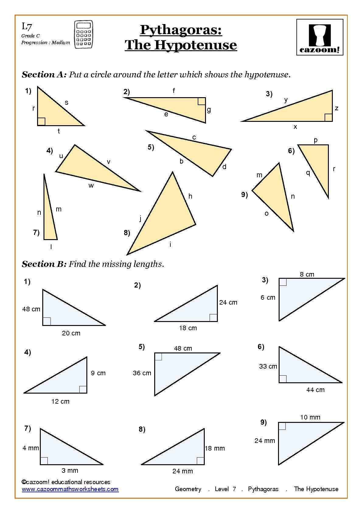 Triangle Inequality theorem Worksheet Maths Worksheets