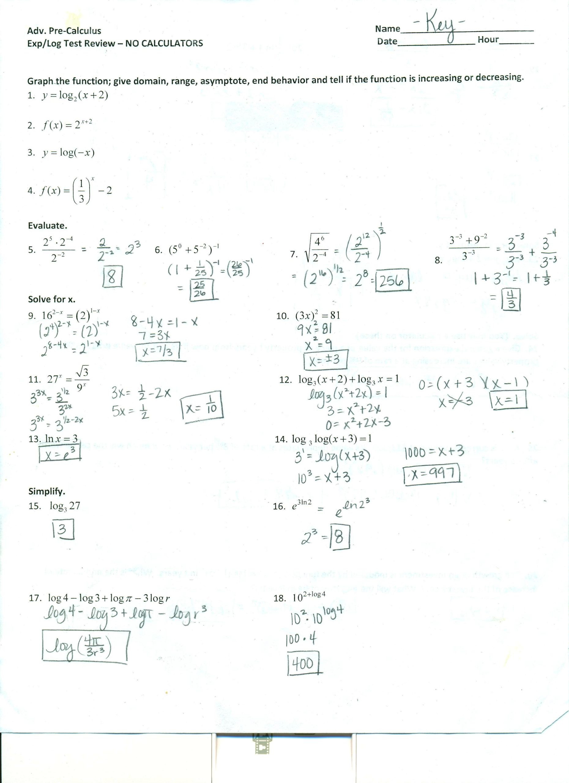 Trigonometry Word Problems Worksheet Answers Precalculus solving Trigonometric Equations Worksheet