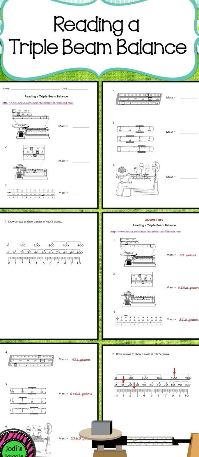 Triple Beam Balance Practice Worksheet Pin On My Beautiful Collections
