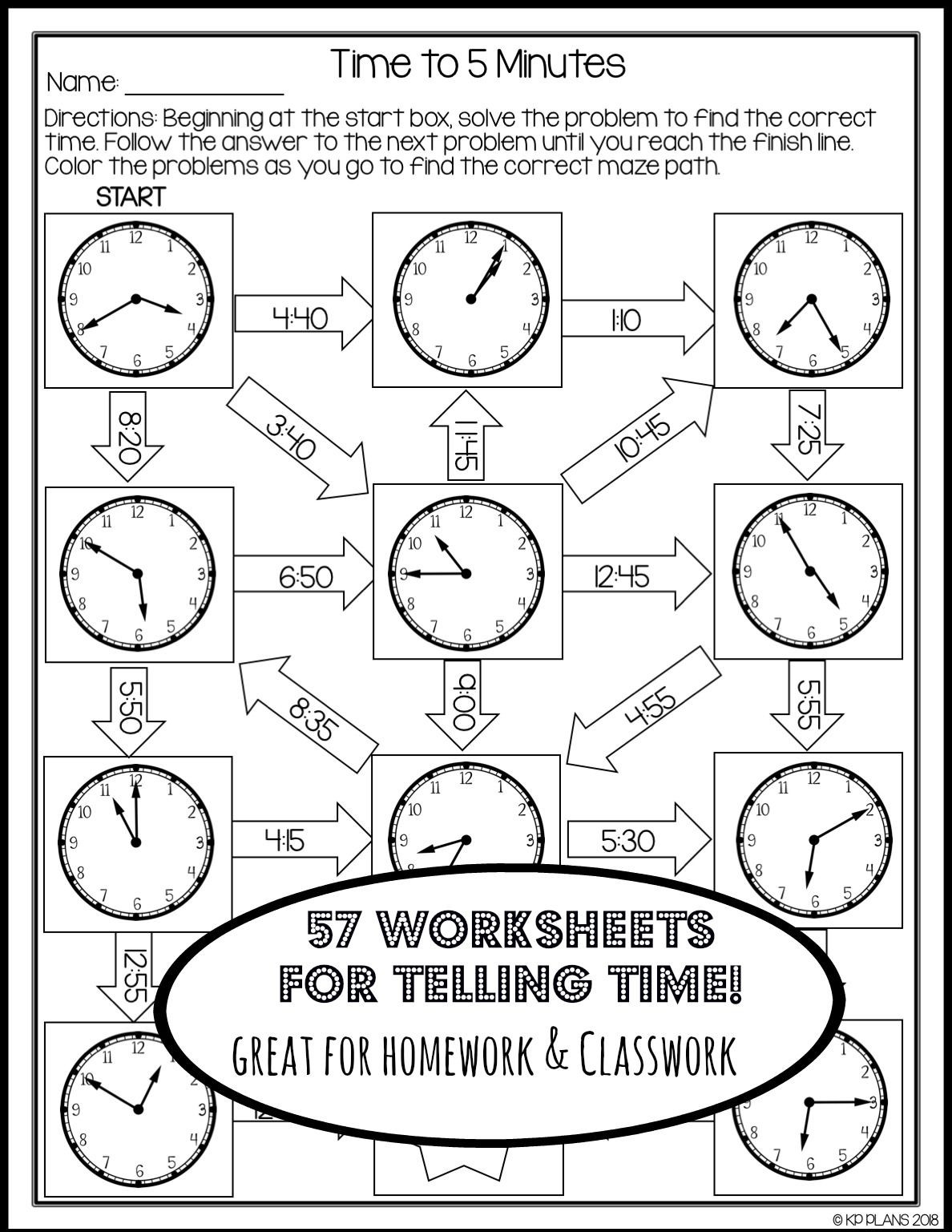 Unit Circle Practice Worksheet Telling Time Worksheets No Prep