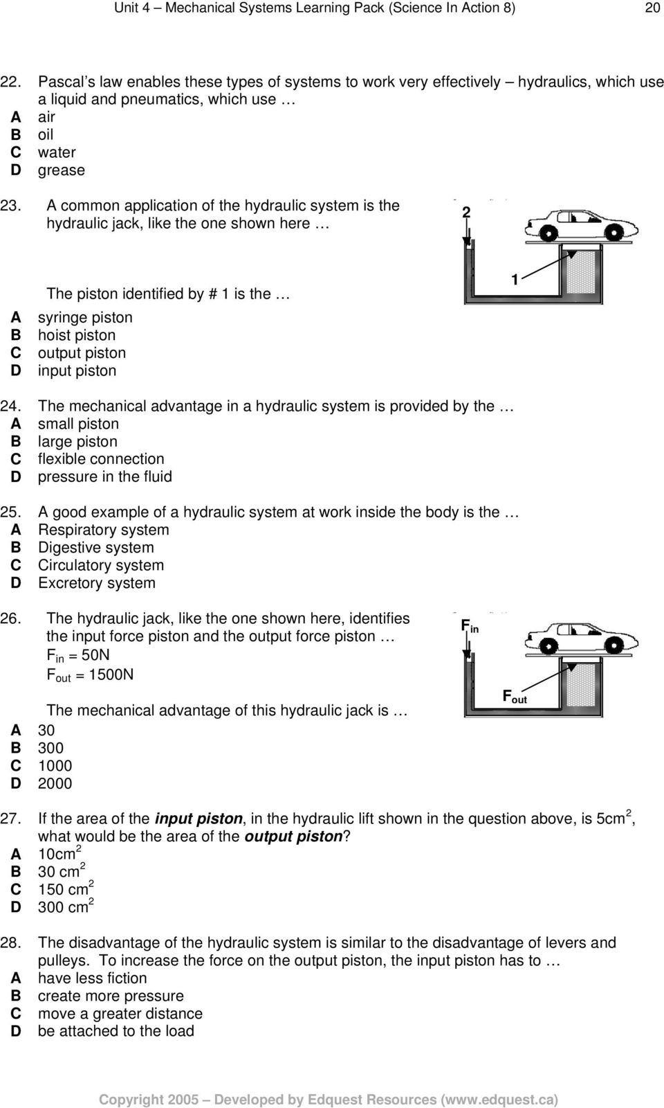 Unit Rate Word Problems Worksheet Unit Mechanical Systems Learning Pack Science In Action
