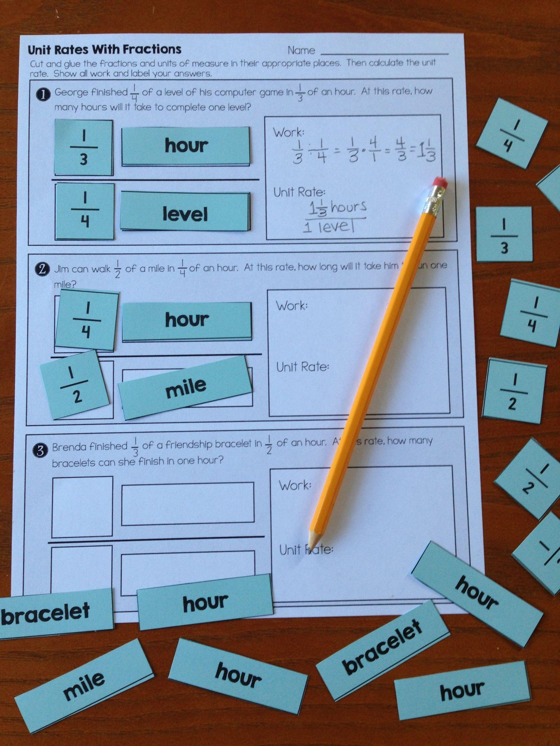 Unit Rate Worksheet 7th Grade Pin On Math Grades 7 12