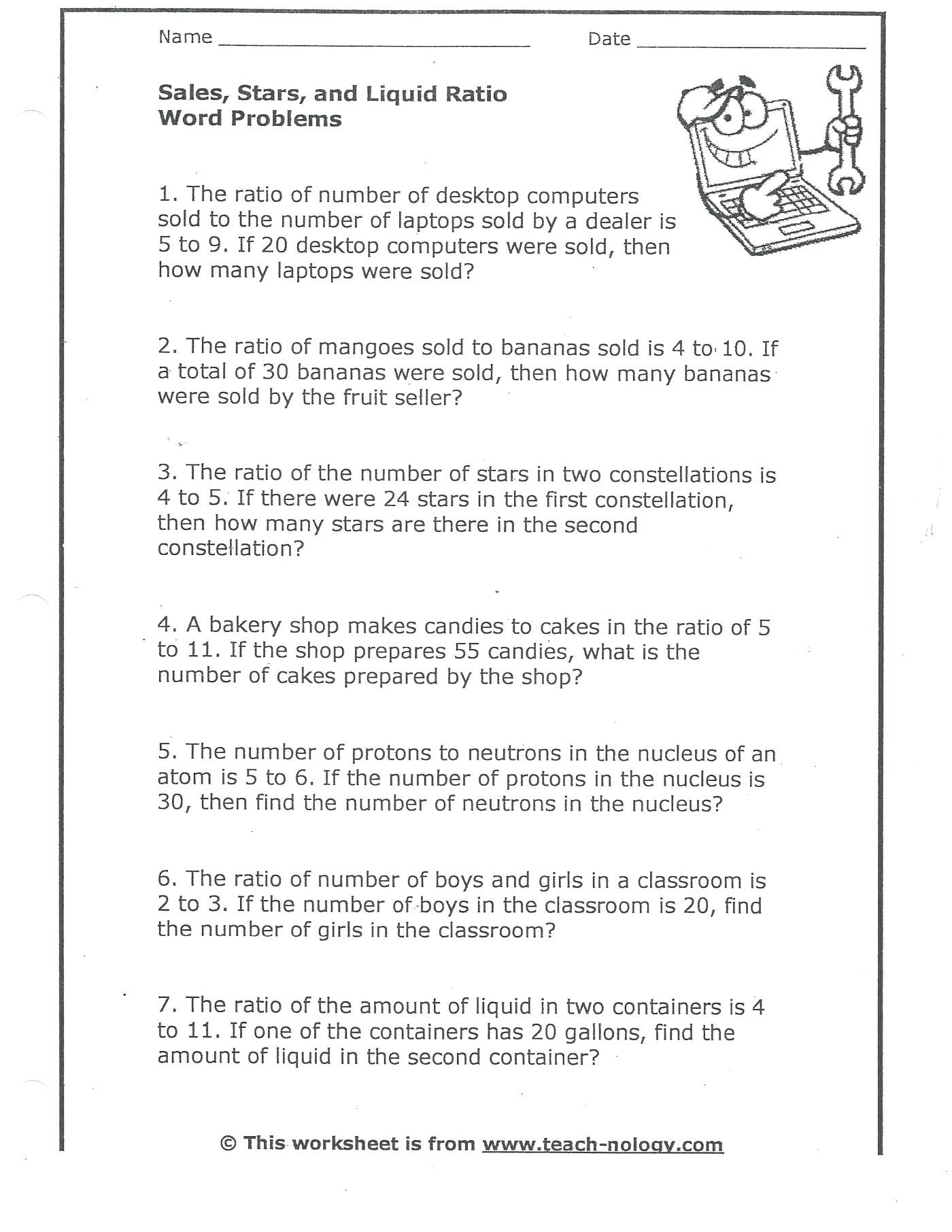 Unit Rate Worksheet 7th Grade Ratios and Rates Worksheet Promotiontablecovers
