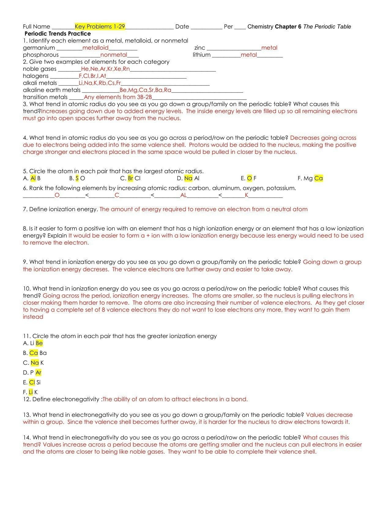Valence Electrons Worksheet Answers formal Valence Electrons Worksheet Answers