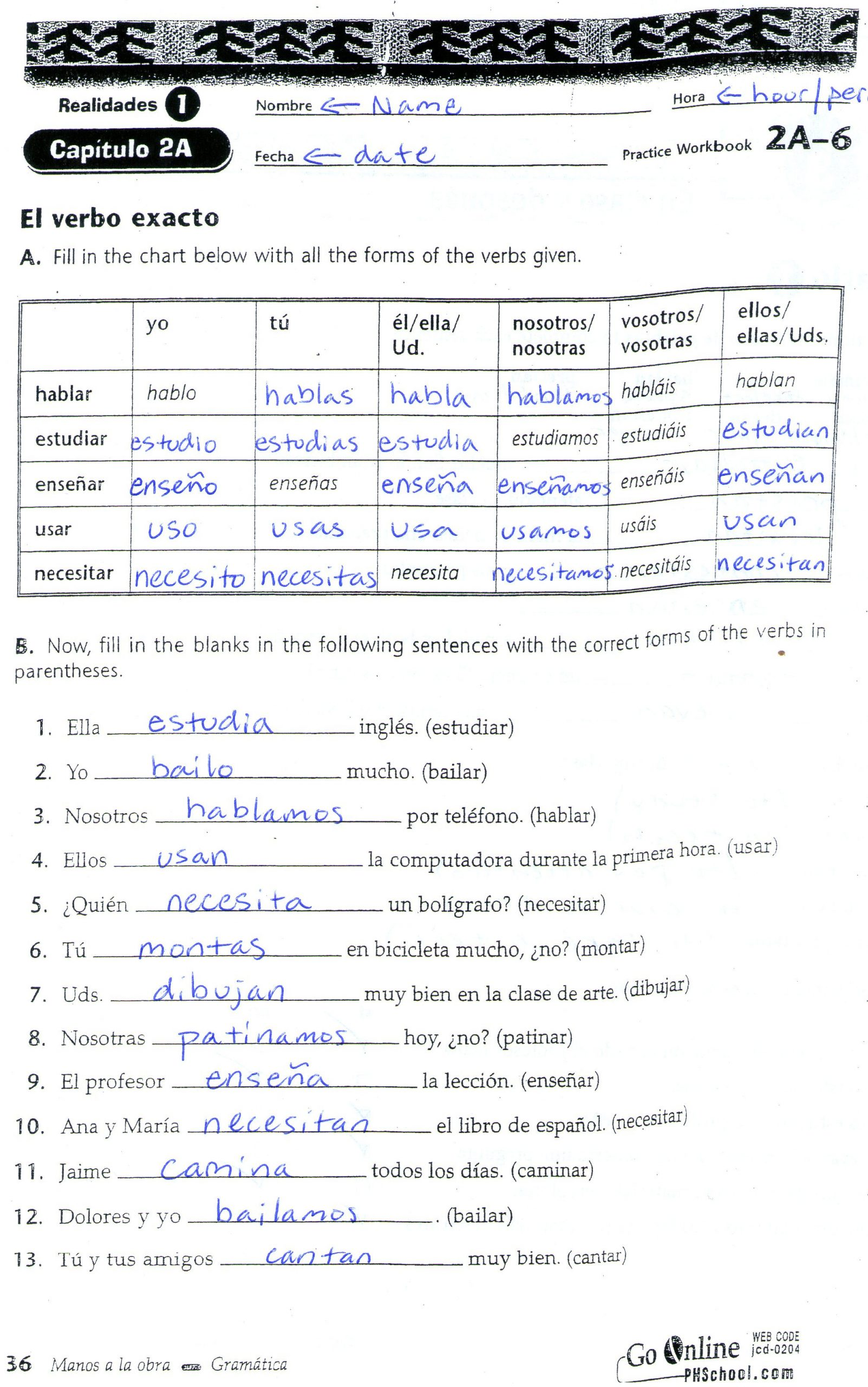 Verbs Like Gustar Worksheet Quia Class Page Fl