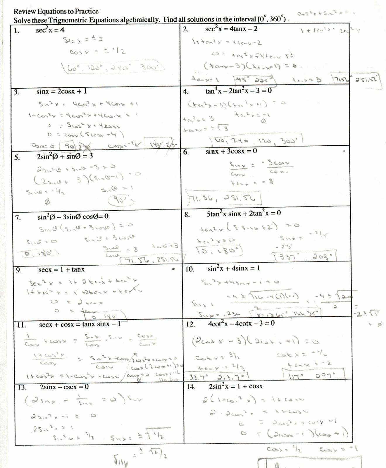 Verify Trig Identities Worksheet Proving Trig Identities Worksheet