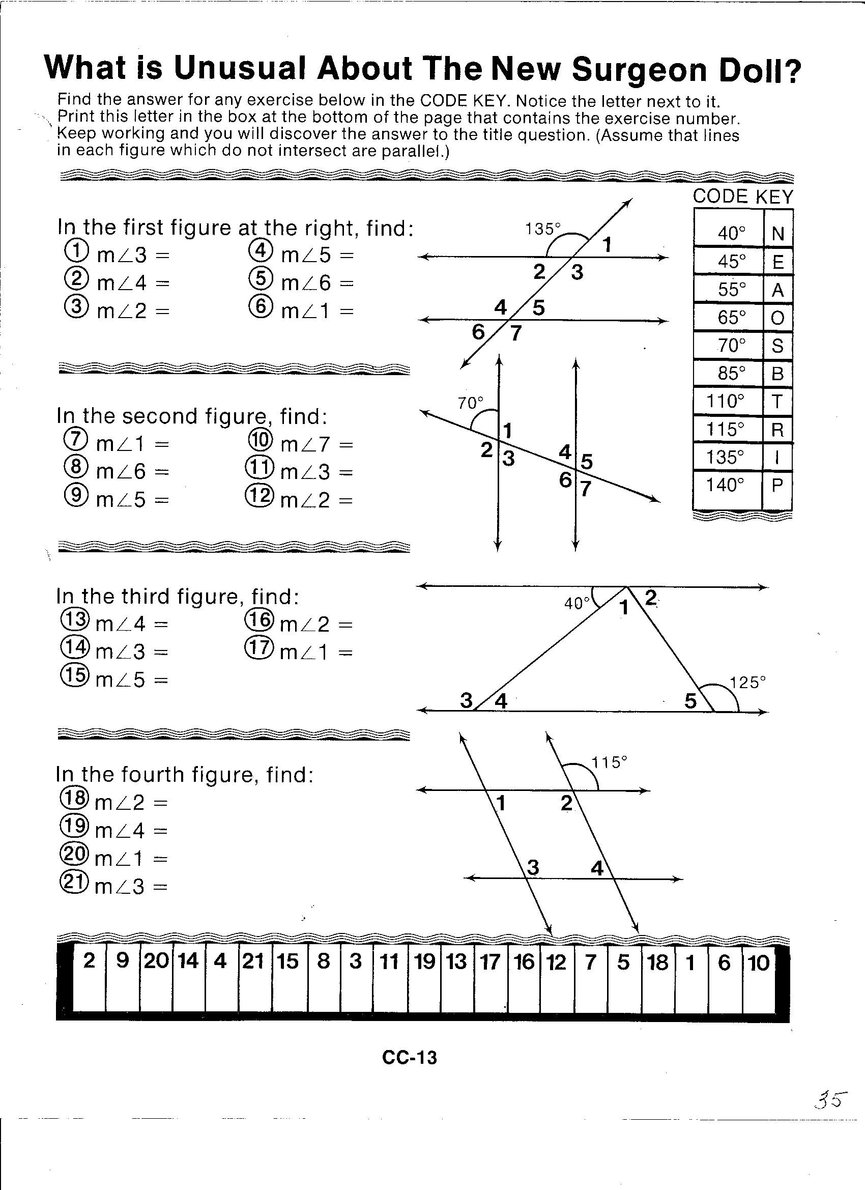 Vertical Angles Worksheet Pdf Missing Supplementary Plementary Angles Worksheet