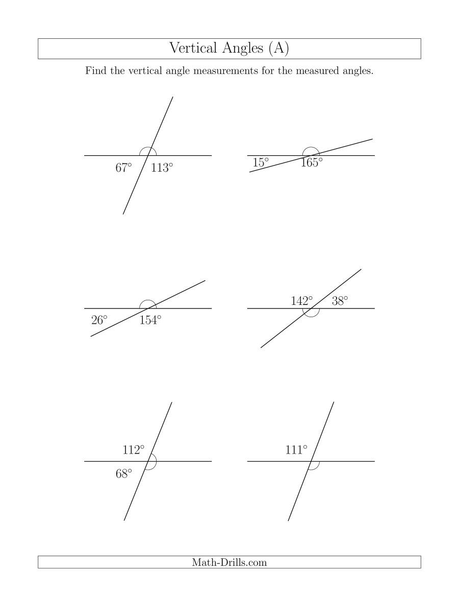 geometry vertical angles 001