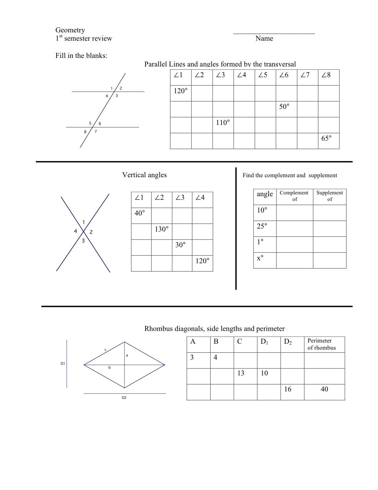 Vertical Angles Worksheet Pdf Worksheets