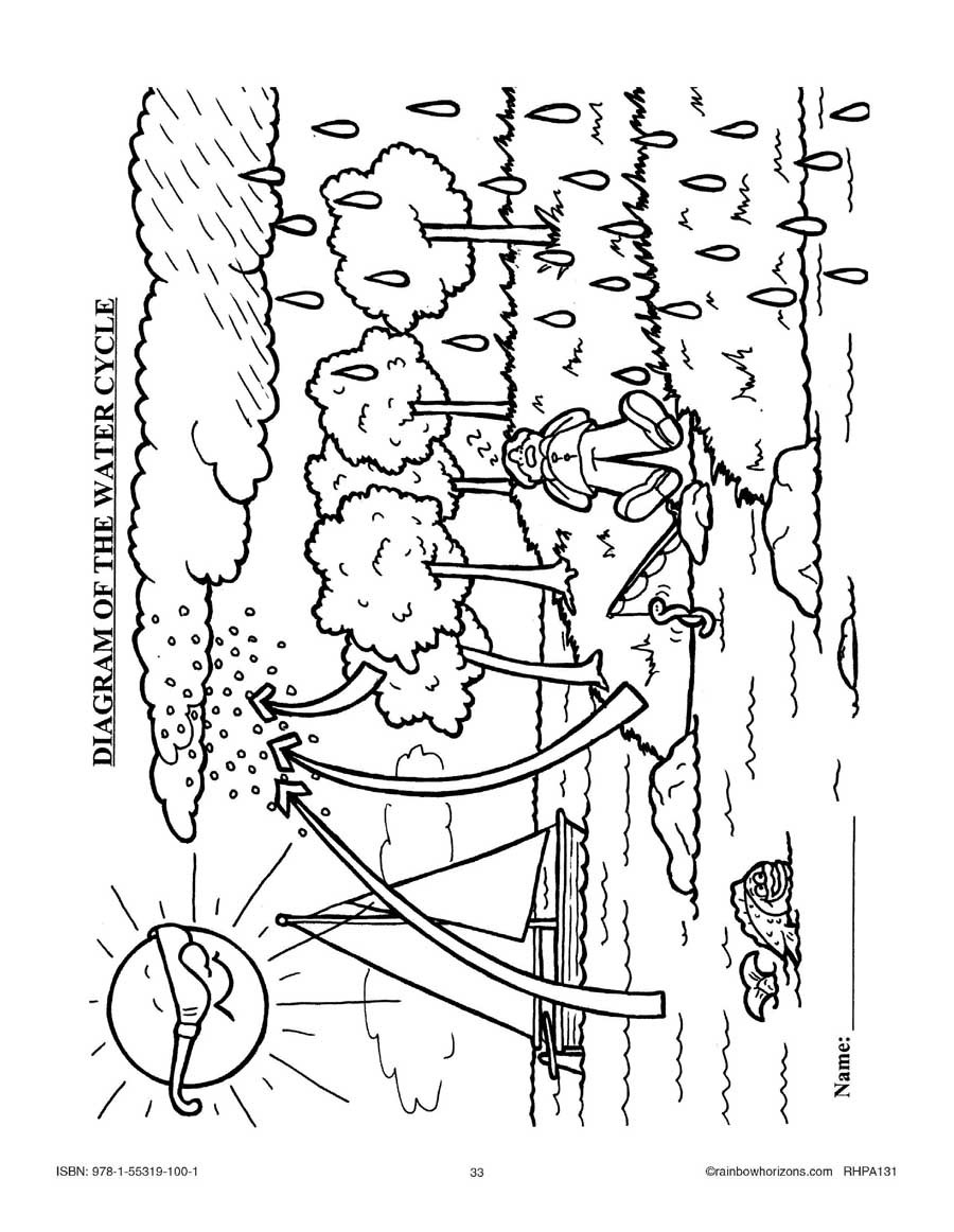 Water Cycle Worksheet Answer Key the Pacific Rim the Water Cycle Diagram Worksheet