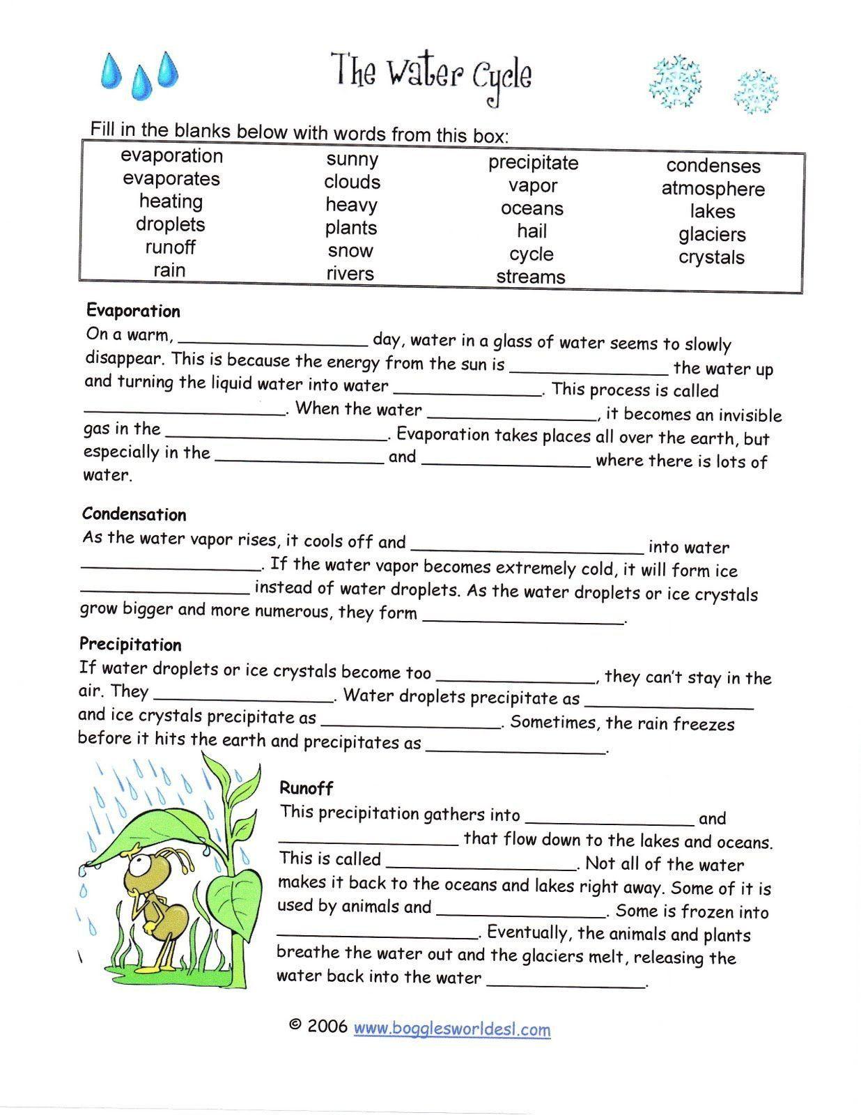 Water Cycle Worksheet Pdf Pin Printable Blank Worksheet Template Science Court