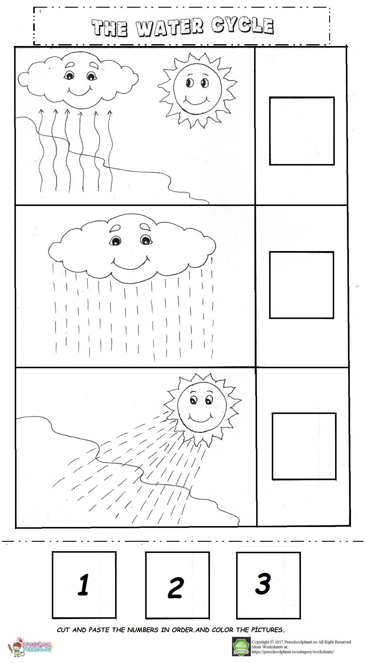 Water Cycle Worksheet Pdf the Water Cycle Worksheet – Preschoolplanet