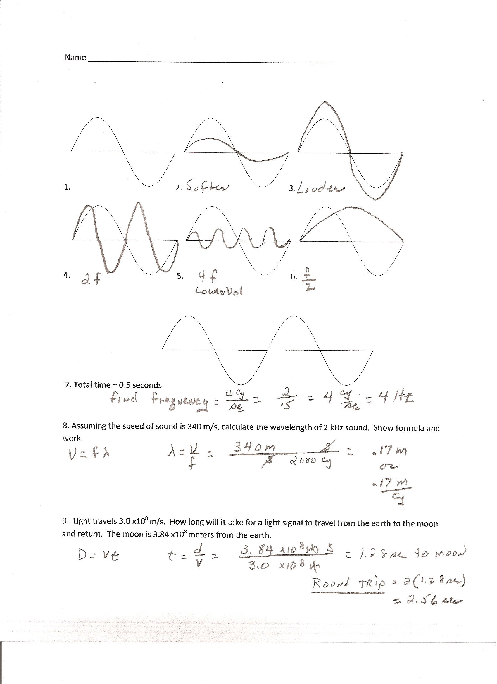 Waves Worksheet 1 Answers 35 Waves Review Worksheet Answer Key Worksheet Resource Plans
