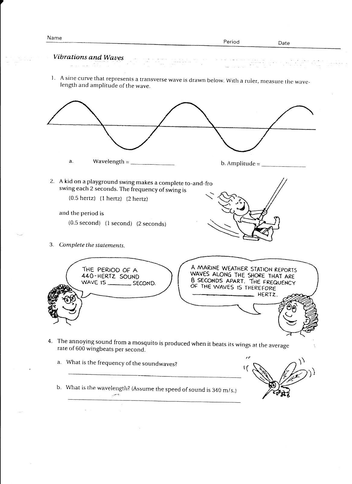 Waves Worksheet 1 Answers Waves sound and Light Answer Key Philips Blue Icicle Lights