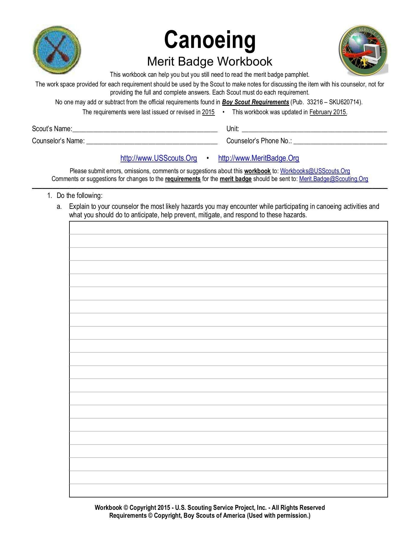 Weather Merit Badge Worksheet Boy Scout Cooking Merit Badge Worksheets Printable Animal