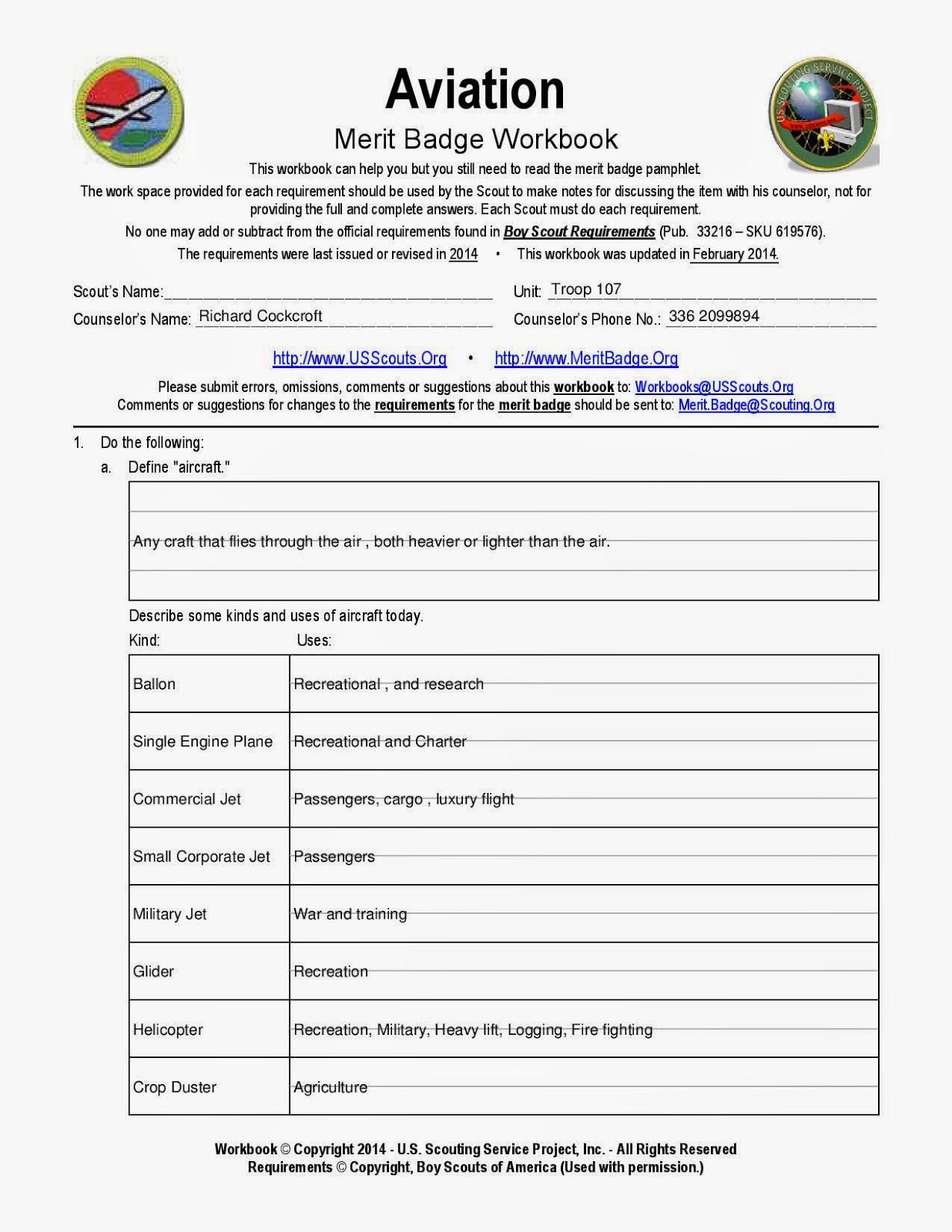Weather Merit Badge Worksheet Boy Scout Personal Management Merit Badge Worksheet the Best