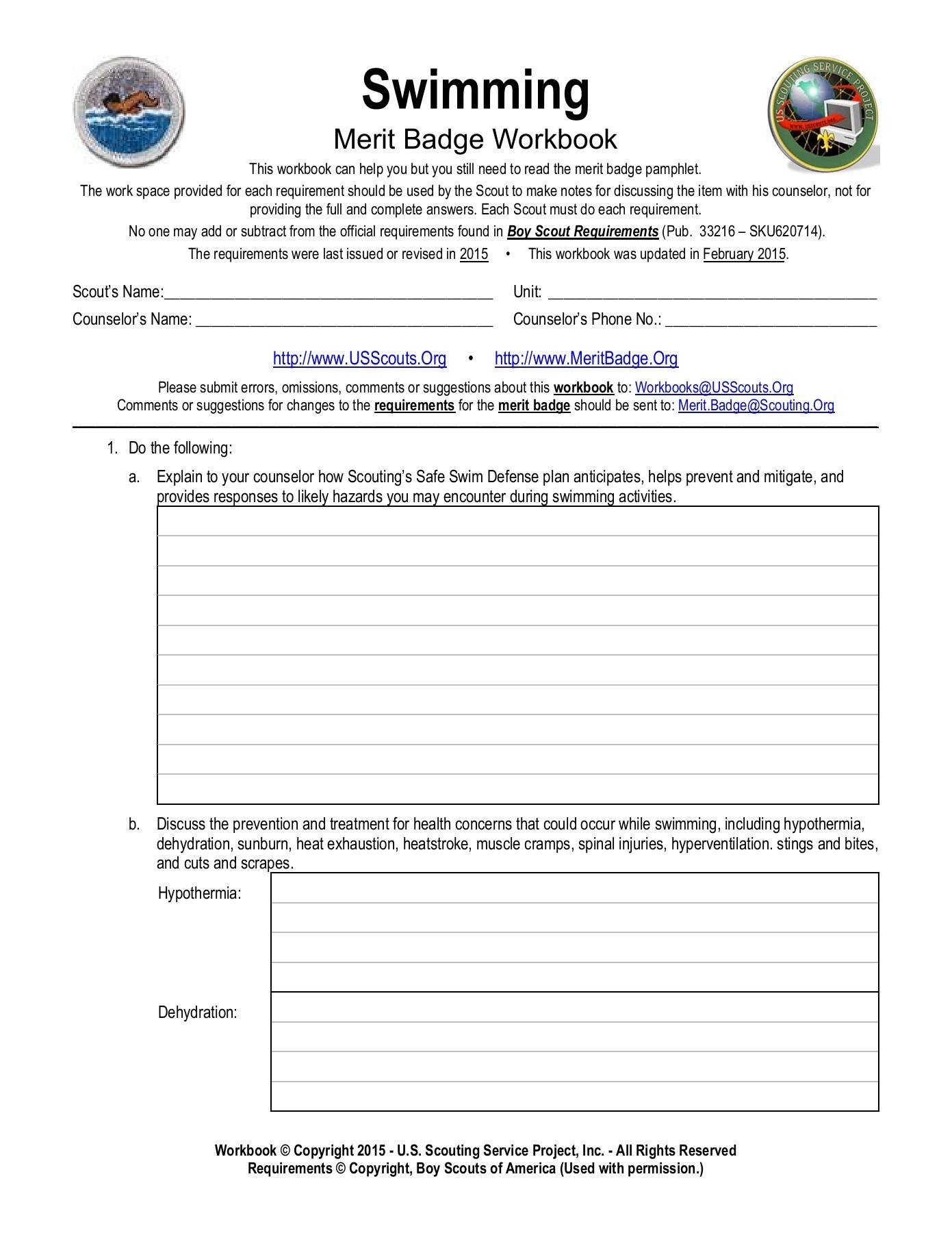 Weather Merit Badge Worksheet First Aid Merit Badge Worksheet Pdf the Y Guide