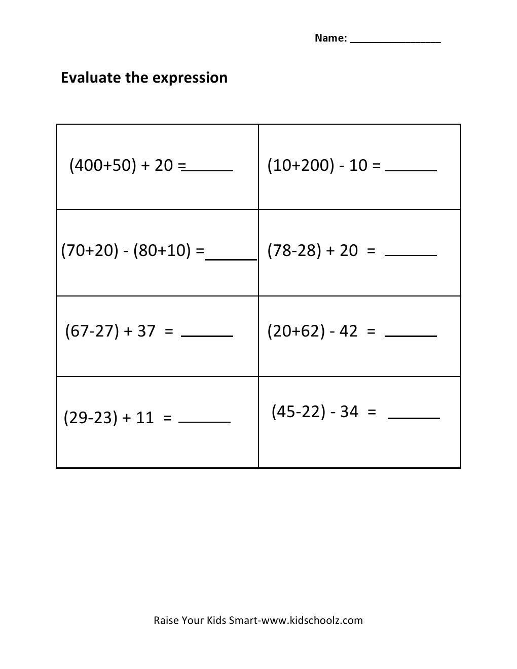 Writing and Evaluating Expressions Worksheet Evaluating Expressions Worksheet Pdf A Worksheet is Really