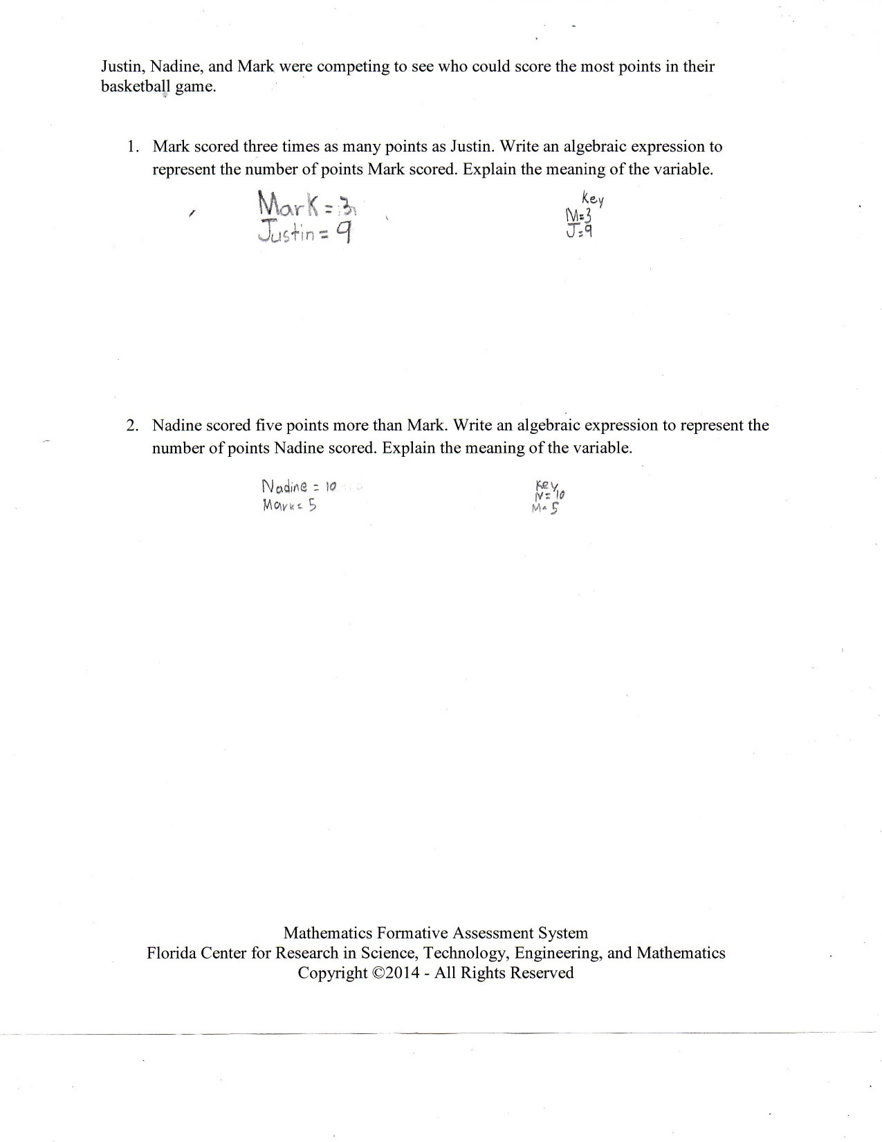 Writing and Evaluating Expressions Worksheet Interpreting Expressions Worksheet Answer Key