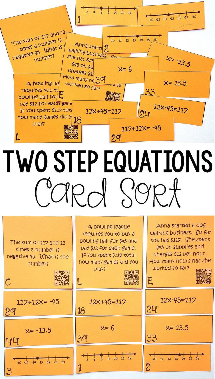 Writing Two Step Equations Worksheet Writing and solving 2 Step Inequalities