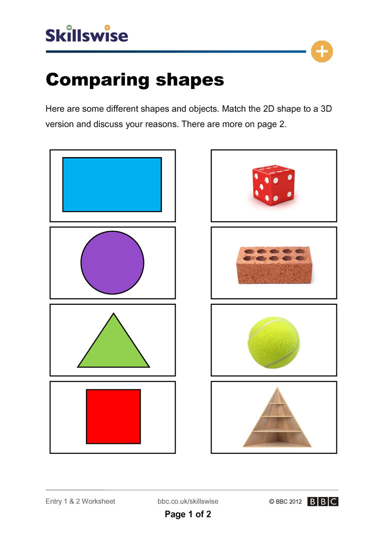 2 Dimensional Shapes Worksheet 2d and 3d Shapes Worksheets