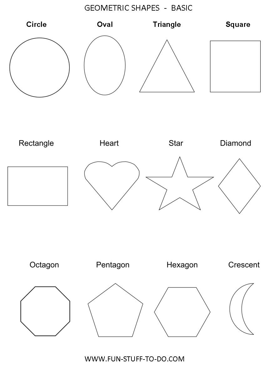 2 Dimensional Shapes Worksheet Geometric Shapes Worksheets