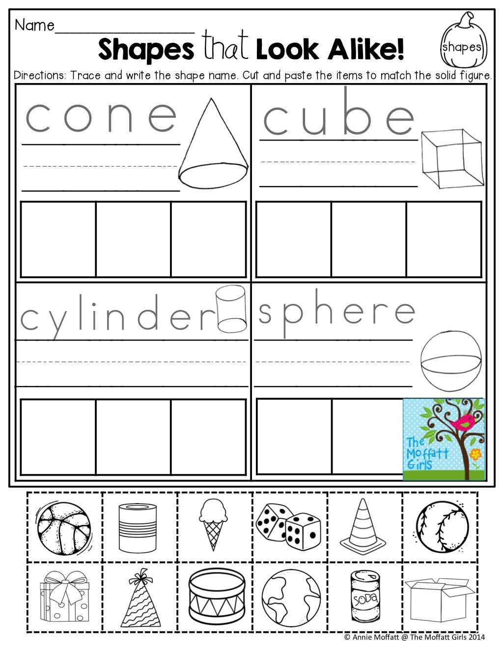 2 Dimensional Shapes Worksheet October Fun Filled Learning Resources