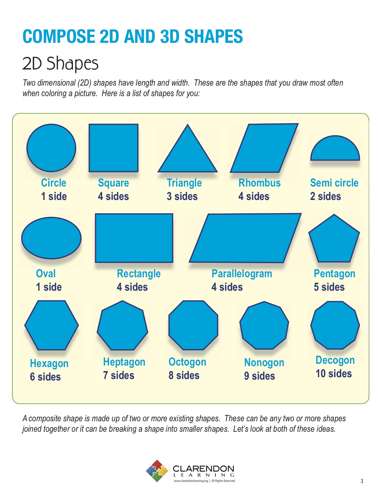 2 Dimensional Shapes Worksheet Pose 2d and 3d Shapes