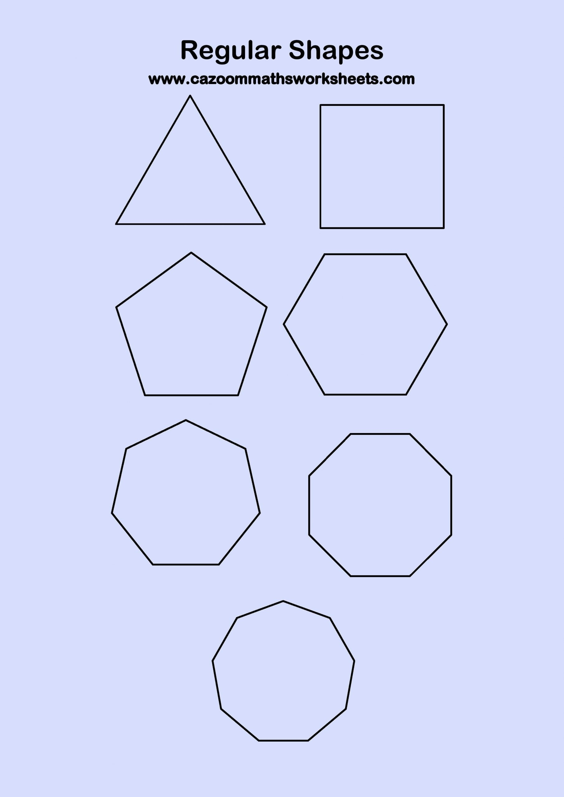 2 Dimensional Shapes Worksheet Printable 2d Shapes Worksheets