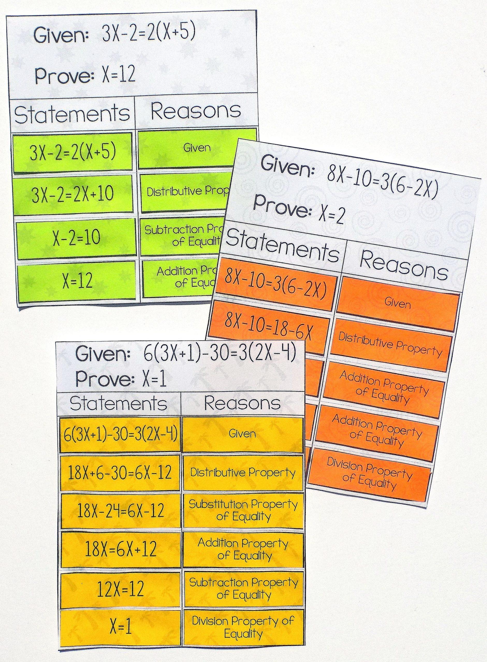 Algebraic Proofs Worksheet with Answers Pin On Algebra I