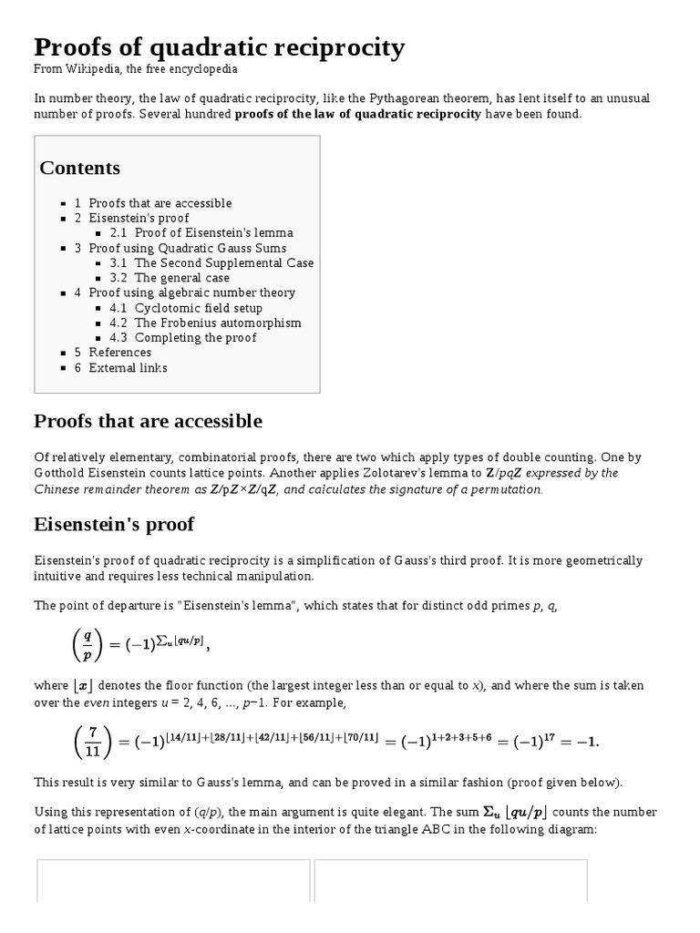 Algebraic Proofs Worksheet with Answers Proofs Of Quadratic Reciprocity Abstract Algebra